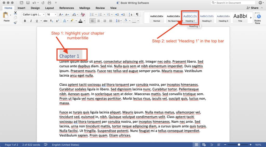 book writing software microsoft word