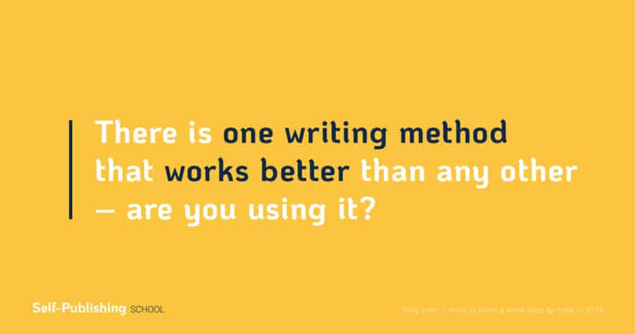 how to write a book method