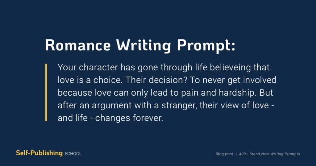 romance creative writing prompt
