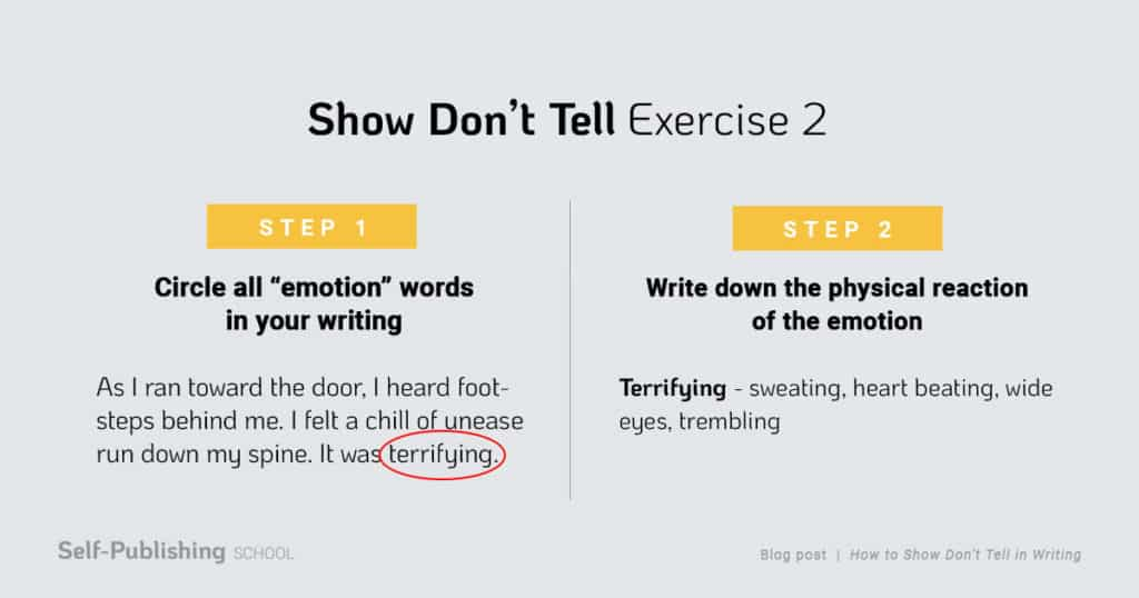 show don't tell examples