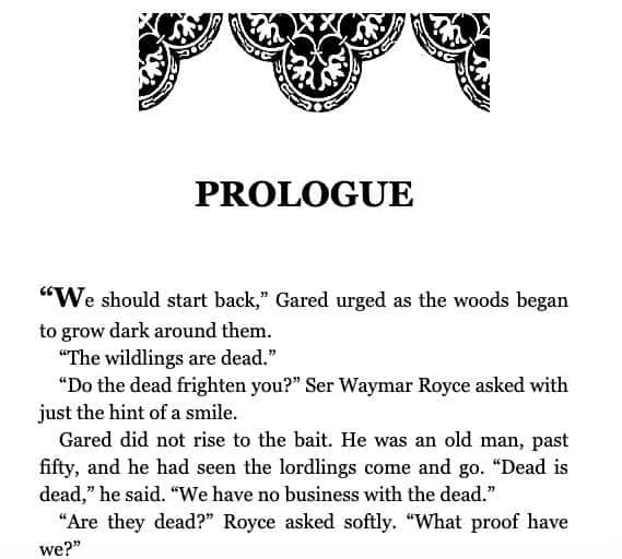 prologue examples