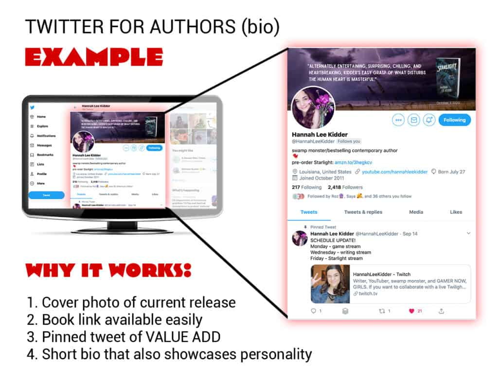 social media for writers example